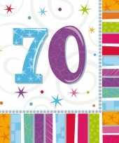 48x stuks 70 jarige feest servetten