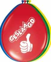 48x stuks gekleurde geslaagd thema ballonnen