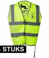 4x geel veiligheidsvest drunken people voor heren
