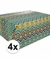 4x gekleurd cadeaupapier 70 x 200 cm type 3 10124720