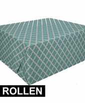 4x groen cadeaupapier 70 x 200 cm type 2