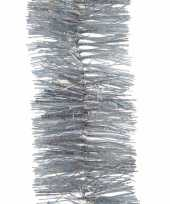 4x kerst lametta guirlandes zilver glitters glinsterend 7 4 x 270 cm kerstboom versiering decoratie