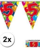 5 jaar vlaggenlijnen 2x met gratis sticker