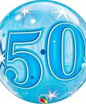 50 jaar geworden folie ballon 55 cm met helium 10089056