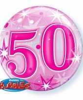 50 jaar geworden folie ballon 55 cm met helium