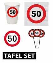50 jaar verjaardag tafel versiering set stopbord