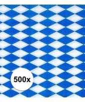 500x blauw met witte ruitjes oktoberfest servetten