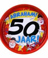 50ste verjaardag abraham metalen dienblad 30 cm