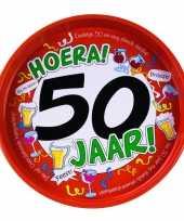 50ste verjaardag metalen dienblad 30 cm