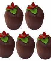 5x hawaii bekers kokosnoot 250 ml