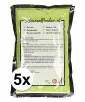 5x holi poeder groen 100 gram