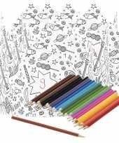 5x kroontjes om in te kleuren met potloden voor kinderen