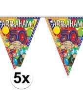 5x stuks abraham vlaggenlijnen van 10 meter