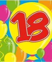 60x achttien 18 jaar feest servetten balloons 25 x 25 cm verjaardag jubileum