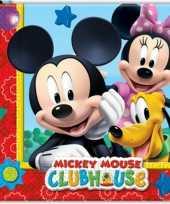 60x mickey mouse feest servetten 33 x 33 cm kinderverjaardag