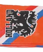60x oranje holland feest servetten 33 x 33 cm ek wk