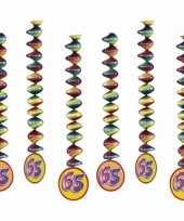 65 jaar feest versiering spiralen 10153319