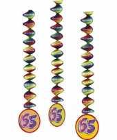 65 jaar feest versiering spiralen