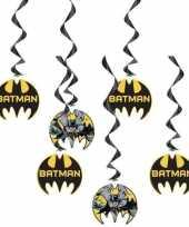 6x batman feest hangdecoratie rotorspiralen