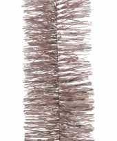 6x kerst lametta guirlandes lichtroze 270 cm kerstboom versiering decoratie