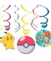 6x pokemon feest hangdecoratie rotorspiralen