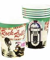 6x rock and roll feest bekertjes 250 ml