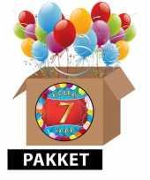 7 jaar feestartikelen pakket