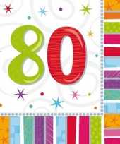 80 jaar servetten