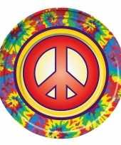 8x hippie gebaksbordjes 22 cm
