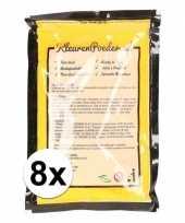 8x holi poeder geel 100 gram