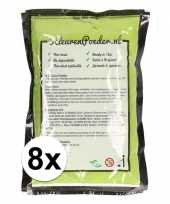 8x holi poeder groen 100 gram