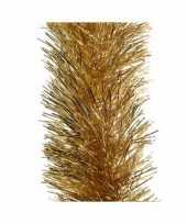 8x kerst lametta guirlandes goud 10 cm breed x 270 cm kerstboom versiering decoratie