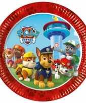 8x paw patrol thema feest bordjes