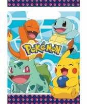 8x pokemon eetuitdeelzakjes snoepzakjes blauw 16 x 23 cm kinderverjaardag