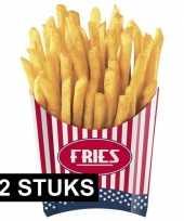 Amerikaanse friet bakjes 12x stuks