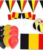 Belgie feestpakket met belgische supporter versiering