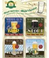 Bier thema onderzetters 9 x 9 cm 10042624