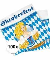 Bierfeest oktoberfest servetten 100 stuks