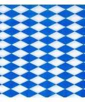 Blauw met witte ruitjes servetten