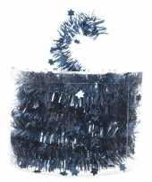 Blauwe feestslinger folie met ster 700 cm