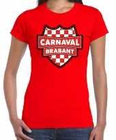 Brabant verkleedshirt voor carnaval rood dames