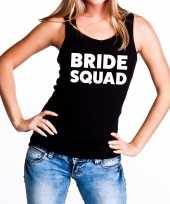 Bride squad fun tanktop zwart voor dames