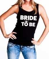 Bride to be fun tanktop zwart voor dames