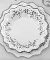 Bruiloft bordjes zilver 27 cm