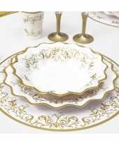 Bruiloft placemats goud 33 cm