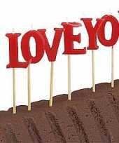 Cake versiering i love you