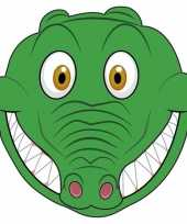 Dieren masker krokodil voor kids
