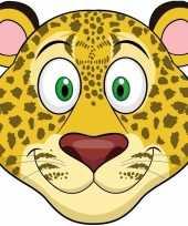 Dieren masker luipaard voor kids