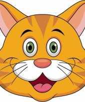 Dieren masker oranje kat poes voor kids