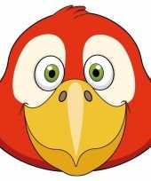 Dieren masker papegaai voor kids
